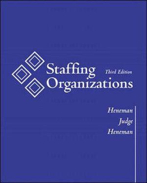 Cover of Staffing Organizations