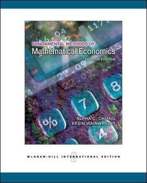 Cover of Fundamental Methods of Mathematical Economics