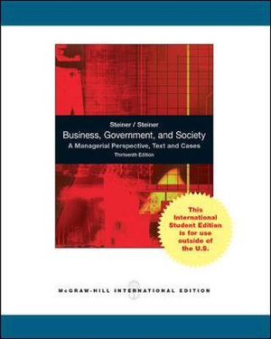 Cover of Business, government, and society : a managerial perspective, text and cases