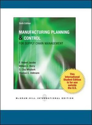 Cover of Manufacturing Planning and Control Systems for Supply Chain Management