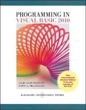 Cover of Programming in Visual Basic 2010