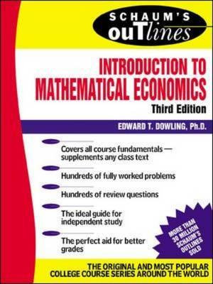 Cover of Schaum's Outline of Introduction to Mathematical Economics