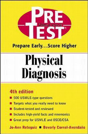 Cover of Physical Diagnosis: PreTest Self-Assessment and Review