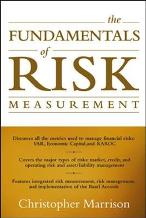 Cover of The Fundamentals of Risk Measurement