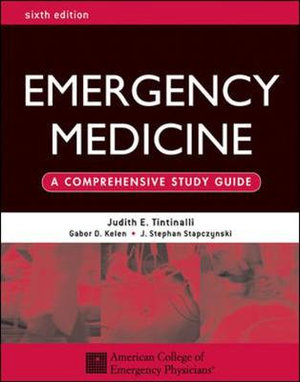 Cover of Emergency Medicine: A Comprehensive Study Guide, Sixth edition