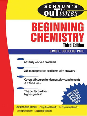 Cover of Schaum's Outline of Beginning Chemistry, 3rd ed