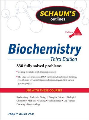 Cover of Schaum's Outline of Biochemistry, Third Edition