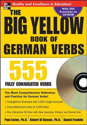 Cover of The Big Yellow Book of German Verbs (Book w/CD-ROM)
