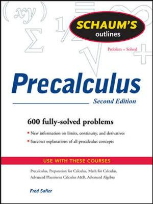 Cover of Schaum's Outline of PreCalculus, 2nd Ed.