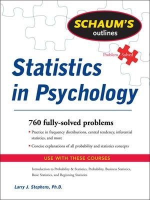 Cover of Schaum's Outline of Statistics in Psychology