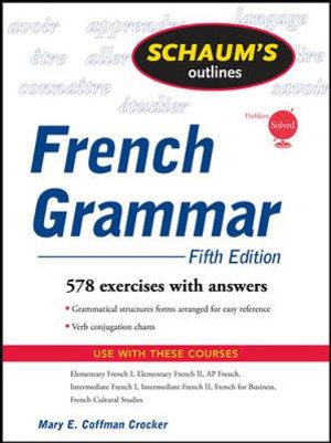 Cover of Schaum's Outline of French Grammar, 5ed