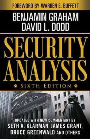 Cover of Security Analysis: Sixth Edition, Foreword by Warren Buffett