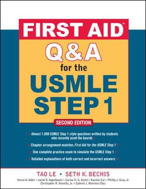 Cover of First Aid Q&A for the USMLE Step 1, Second Edition