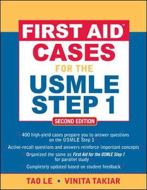 Cover of First Aid™ Cases for the USMLE Step 1: Second Edition