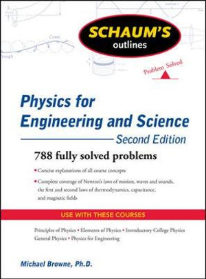Cover of Schaum's Outline of Physics for Engineering and Science, Second Edition