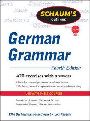 Cover of Schaum's Outline of German Grammar, 4ed