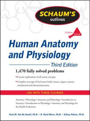 Cover of Schaum's Outline of Human Anatomy and Physiology, Third Edition