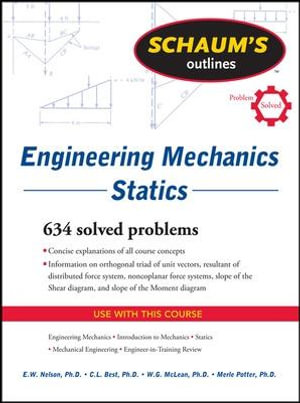 Cover of Schaum's Outline of Engineering Mechanics: Statics