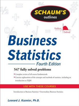 Cover of Schaum's Outline of Business Statistics, Fourth Edition