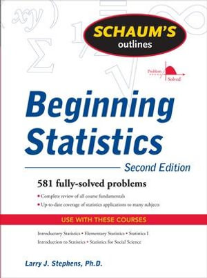 Cover of Schaum's Outline of Beginning Statistics, Second Edition