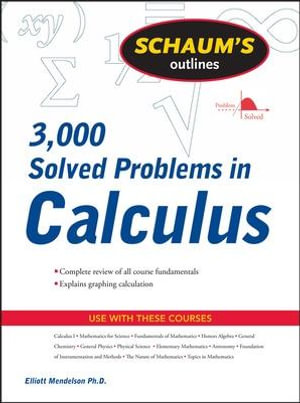 Cover of Schaum's 3,000 Solved Problems in Calculus