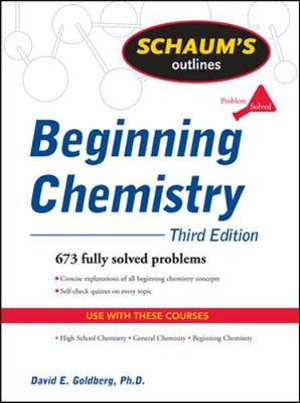 Cover of Schaum's Outline of Beginning Chemistry, Third Edition
