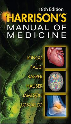 Cover of Harrisons Manual of Medicine, 18th Edition