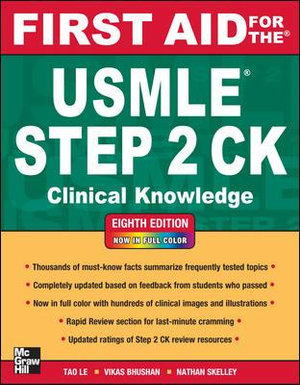 Cover of First Aid for the USMLE Step 2 CK, Eighth Edition