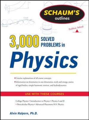 Cover of Schaum's 3,000 Solved Problems in Physics
