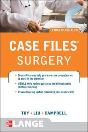 Cover of Case Files Surgery, Fourth Edition