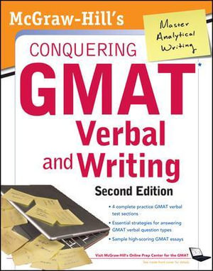 Cover of McGraw-Hills Conquering GMAT Verbal and Writing, 2nd Edition