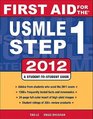 Cover of First Aid for the USMLE Step 1 2012