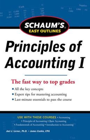 Cover of SCHAUM'S EASY OUTLINE OF PRINCIPLES OF ACCOUNTING