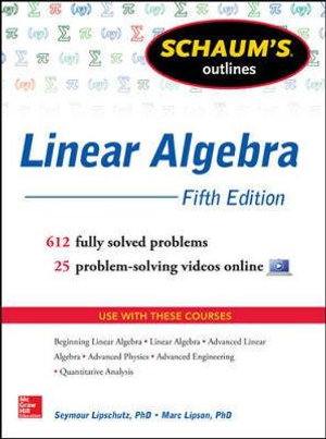 Cover of Schaum's Outline of Linear Algebra, 5th Edition