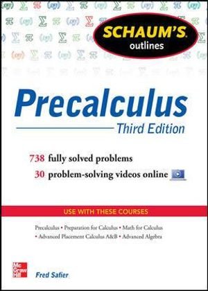 Cover of Schaum's Outline of Precalculus, 3rd Edition