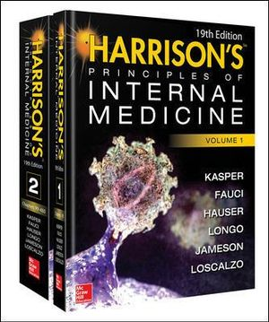 Cover of Harrison's Principles of Internal Medicine 19/E (Vol.1 & Vol.2)