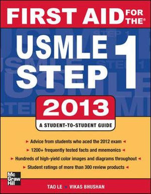 Cover of First Aid for the USMLE Step 1 2013