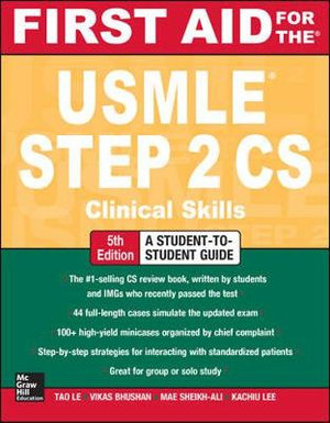 Cover of First Aid for the USMLE Step 2 CS, Fifth Edition