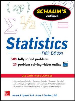 Cover of Schaum's Outline of Statistics, 5th Edition