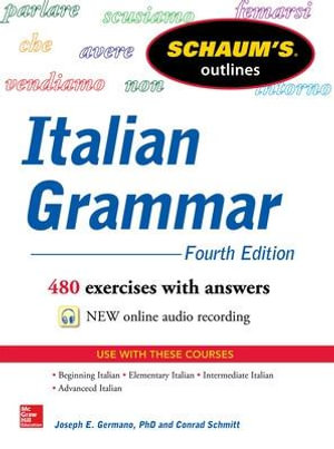 Cover of Schaum's Outline of Italian Grammar, 4th Edition