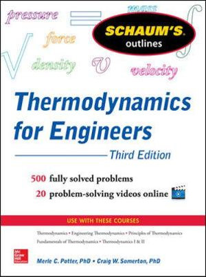 Cover of Schaum's Outline of Thermodynamics for Engineers, 3rd Edition