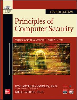 Cover of Principles of Computer Security, Fourth Edition
