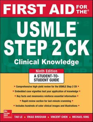Cover of First Aid for the USMLE Step 2 CK, Ninth Edition