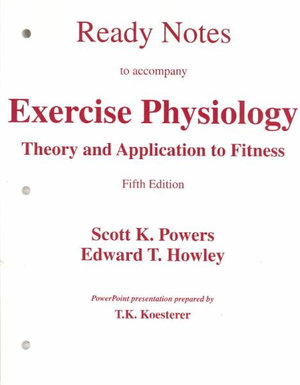 Cover of Ready Notes to Accompany Exercise Physiology