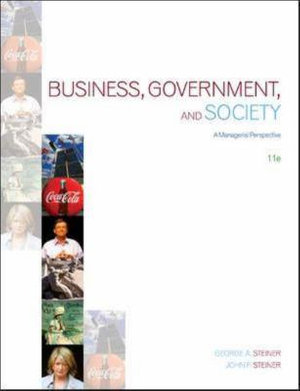 Cover of Business, Government and Society: A Managerial Perspective