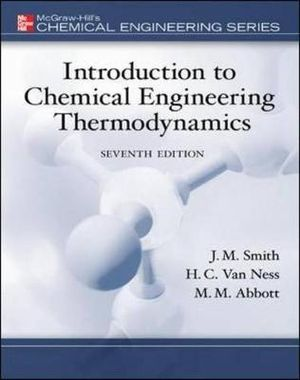 Cover of Introduction to Chemical Engineering Thermodynamics