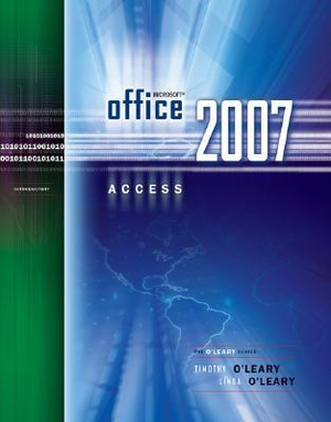 Cover of Microsoft Office Access 2007 Introductory
