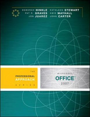 Cover of Microsoft Office 2007: A Professional Approach