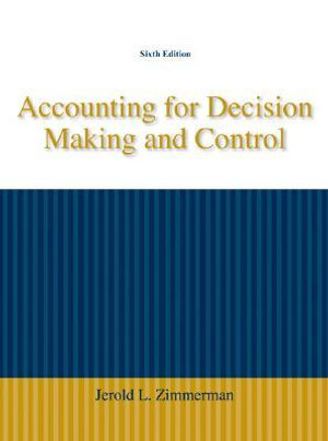 Cover of Accounting for Decision Making and Control