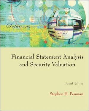 Cover of Financial Statement Analysis and Security Valuation